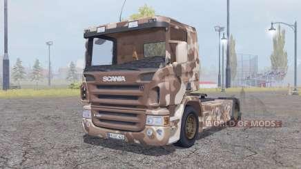 Scania R420 desert camo para Farming Simulator 2013