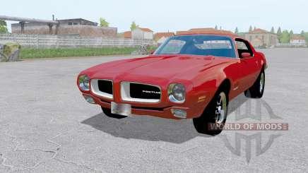 Pontiac Firebird (228-87) 1970 red para Farming Simulator 2017