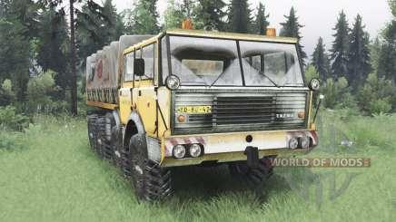 Tatra T813 TP 8x8 1967 inverno v1.5 para Spin Tires