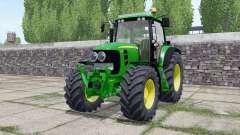 John Deere 7530 Premium extra lights para Farming Simulator 2017