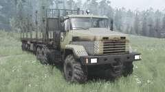 KrAZ 6322 escuro-cinza-amarelo v2.0 para MudRunner