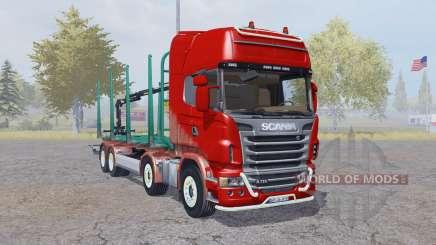 Scania R730 V8 Topline 8x8 Timber Truck para Farming Simulator 2013