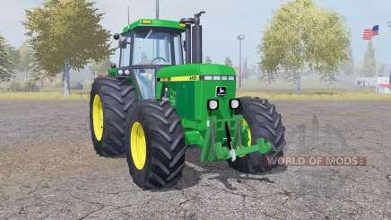 John Deere 4455 double wheels para Farming Simulator 2013