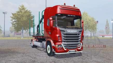 Scania R730 V8 Topline 4x4 Timber Truck para Farming Simulator 2013
