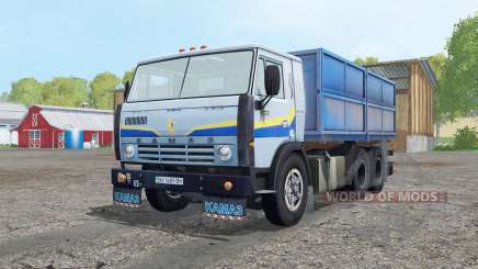 KamAZ 5320 cinza claro, azul para Farming Simulator 2015