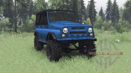 UAZ 469 azul v1.1 para Spin Tires