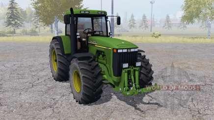 John Deere 8410 dual rear wheels para Farming Simulator 2013