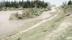 Estrada da floresta para MudRunner