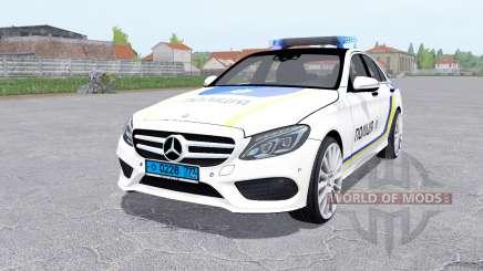 Mercedes-Benz C 250 AMG (W205) Polícia para Farming Simulator 2017