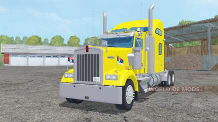 Kenworth W900L Sleeper Cab 2005 para Farming Simulator 2015