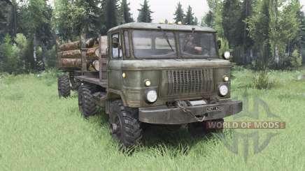 GAZ 66 4x4 para Spin Tires