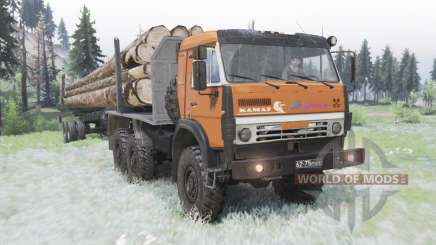 KamAZ 5350 moderadamente laranja para Spin Tires
