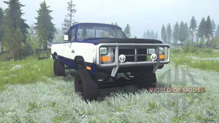 Dodge Power Ram Regular Cab (W250) 1990 lifted para MudRunner