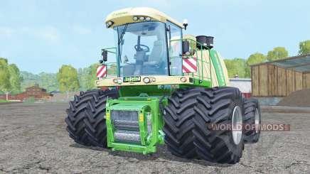 Krone BiG X 1100 double wheels para Farming Simulator 2015