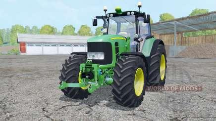 A John Deere 7530 Premium frente loadeᶉ para Farming Simulator 2015