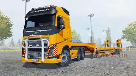 Volvo FH16 600 Globetrotter special transport para Farming Simulator 2013
