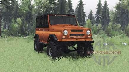 UAZ 469 laranja v1.2 para Spin Tires