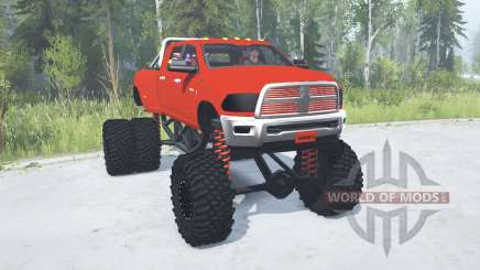 Dodge Ram 3500 Heavy Duty lifted para MudRunner