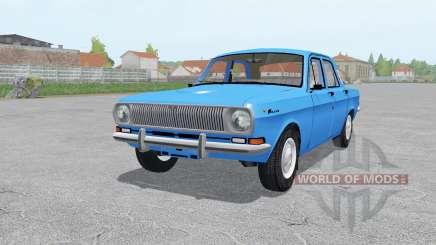 GAZ 24 Volga moderadamente-azul para Farming Simulator 2017