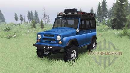 UAZ 469 azul v1.2 para Spin Tires