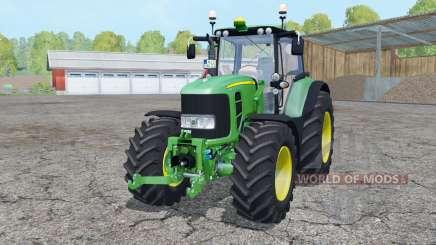 John Deere 7530 Premium loader mounting para Farming Simulator 2015
