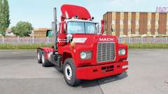 Mack R600 Day Cab 6x4 red salsa para Euro Truck Simulator 2