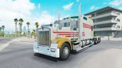 Kenworth W900B long grayish yellow para American Truck Simulator