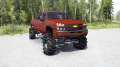 Chevrolet Silverado 2500 HD Crew Cab 2002 lifted para MudRunner