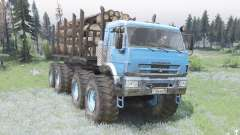 KamAZ Haste de conexão a cor azul brilhante para Spin Tires