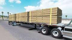 Semi-reboque-plataforma de Wilson para American Truck Simulator