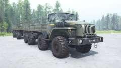 Ural 6614 de cor cinza-esverdeada para MudRunner