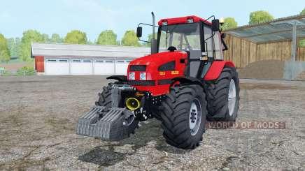 Bielorrússia 1221.4 de cor vermelho brilhante para Farming Simulator 2015