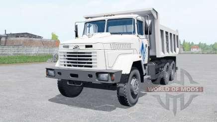 KrAZ-65055 cor branca para Farming Simulator 2017