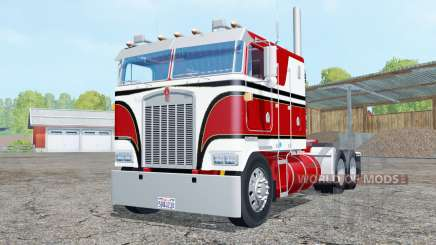 Kenworth K100 amaranth red para Farming Simulator 2015