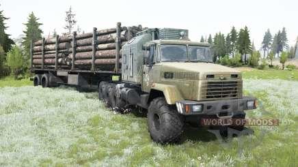 KrAZ-7140Н6 antiqued cabine para MudRunner