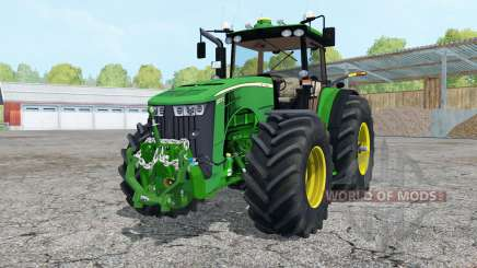 John Deere 8370R added wheels para Farming Simulator 2015