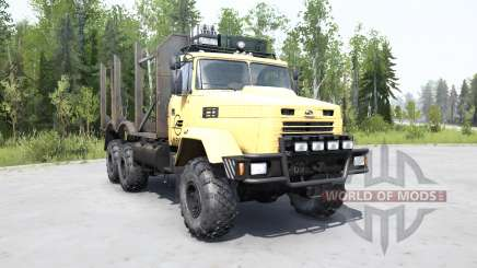 KrAZ 6322 macio cor amarela para MudRunner