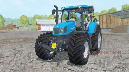 New Holland T6.175 process cyan para Farming Simulator 2015
