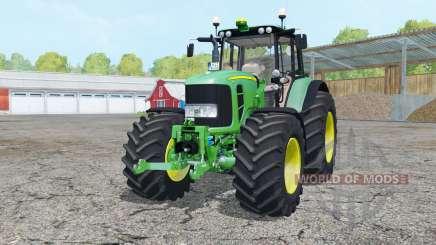 John Deere 7530 Premium front loader console para Farming Simulator 2015