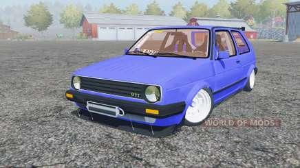 Volkswagen Golf GTI (Typ 19) 1984 stance para Farming Simulator 2013