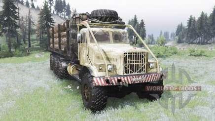 O KrAZ-255B 8x8 para Spin Tires