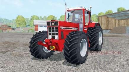 International 1455 XL Continental tires para Farming Simulator 2015
