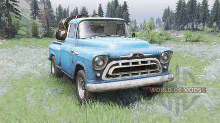 Chevrolet 3100 Stepside 1957 para Spin Tires