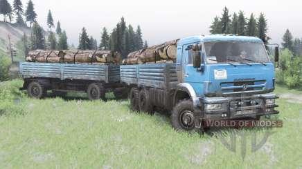 KamAZ-43118-24 2010 para Spin Tires