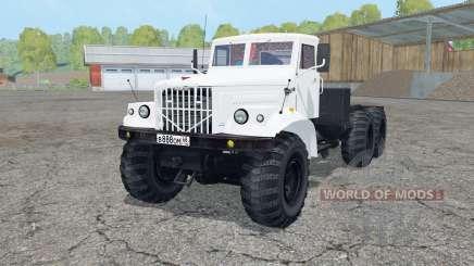 KrAZ-258 cor branca para Farming Simulator 2015