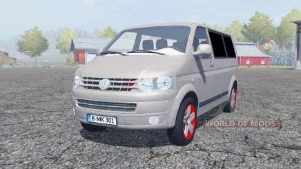 Volkswagen Caravelle TDI (T5) 2009 para Farming Simulator 2013