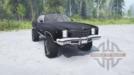 Chevrolet Monte Carlo 1977 lifted para MudRunner