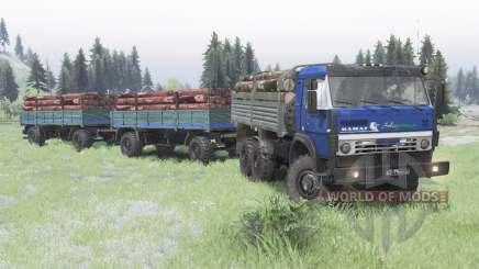 KamAZ 5350 azul escuro para Spin Tires