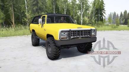 Dodge Ramcharger 1982 _ para MudRunner