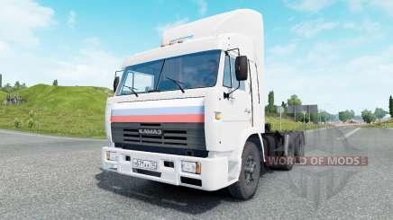 KamAZ-54115 cor branca para Euro Truck Simulator 2
